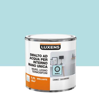 Vernice di finitura LUXENS Manounica base acqua blu miami 6 lucido 0.5 L