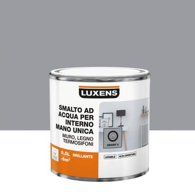 Vernice di finitura LUXENS Manounica base acqua grigio granito 3 lucido 0.5 L
