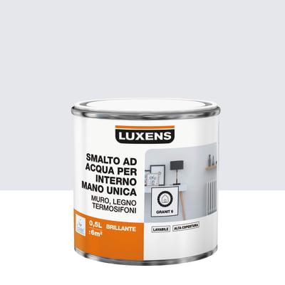 Smalto LUXENS base acqua grigio granito 6 lucido 0.5 L