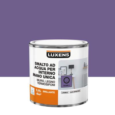 Smalto LUXENS base acqua marrone talpa 3 lucido 0.5 L
