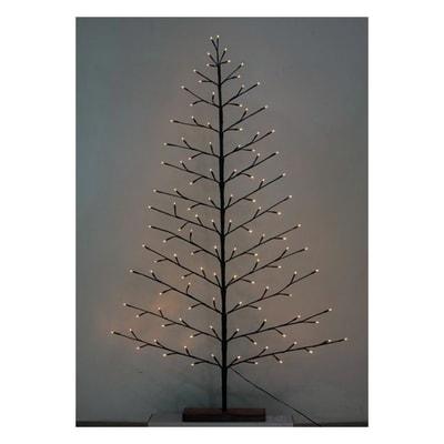 Albero 120 lampadine bianco caldo H 150 cm