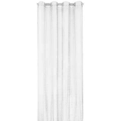 Tenda Octogone devoré bianco occhielli 140 x 280 cm