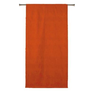 Tenda Oscurante Ignifugo Lin arancione fettuccia con passanti nascosti 140x300 cm
