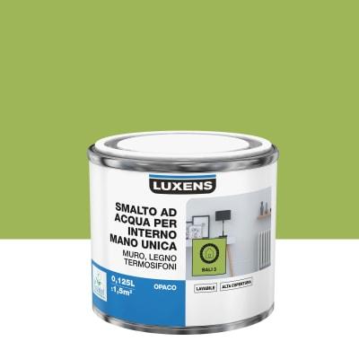 Vernice di finitura LUXENS Manounica base acqua verde bali 3 satinato 0,125 L