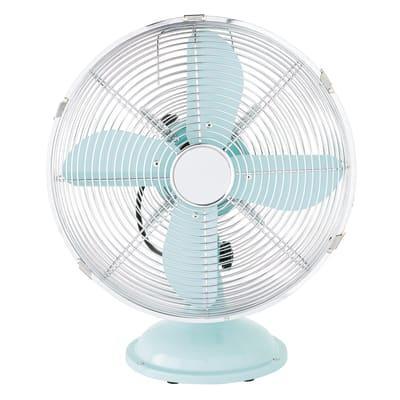 Ventilatore da tavolo EQUATION Mini Cooma azzurro blu 40 W Ø 30 cm