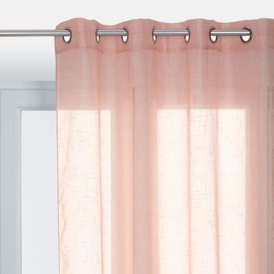 Tenda Lucciola rosa occhielli 140x280 cm