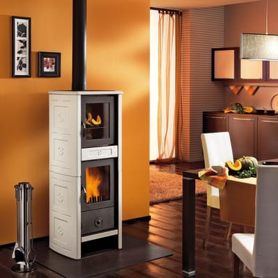 Stufa a legna con forno Morena 6.2 kW sale pepe