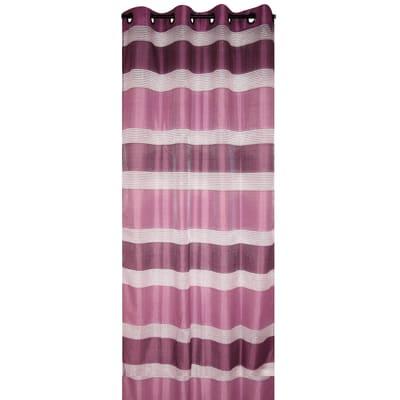 Tenda Stripe viola occhielli 140 x 280 cm