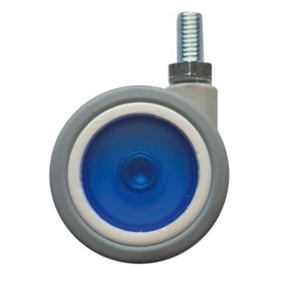 Ruota Design comodini; tavolini; cassettiere in caucciù blu Ø 40 cm