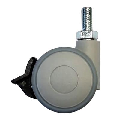Ruota Design comodini; tavolini; cassettiere in caucciù grigio Ø 40 cm con freno