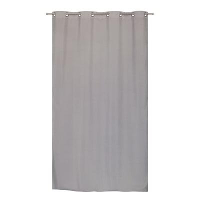 Tenda Oscurante termica Stop Cold grigio occhielli 140x280 cm