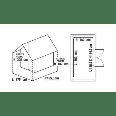 Casetta da giardino in polipropilene Factor 6x6 Keter 3.49 m² spessore 16 mm