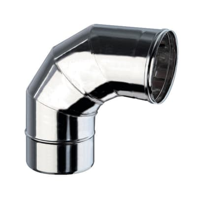 Curva 90° Curva inox aisi 316L a 90° Dn 200 mm in inox 316l (elevata resistenza in condizioni climatiche estreme)