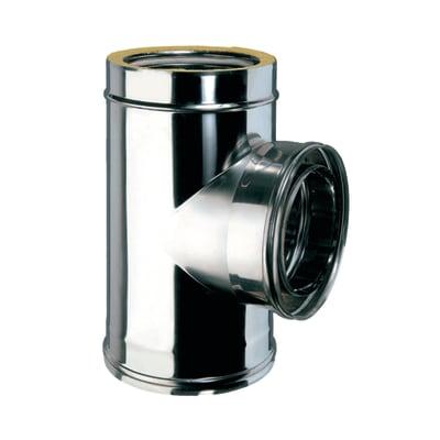 Raccordo a t in inox 316l (elevata resistenza in condizioni climatiche estreme) Ø 100 mm