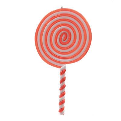 Decorazione per albero di natale Lecca lecca Candy in plastica rosso e bianco H 20 cm, L 10 cmx P 0.8 cm,