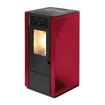 Stufa a pellet ventilata Tectro TBH 570 7 kW rosso