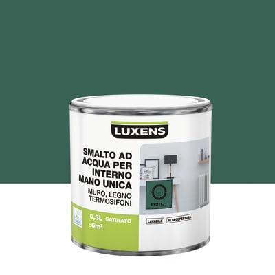 Smalto LUXENS base acqua verde esotico 1 satinato 0.5 L
