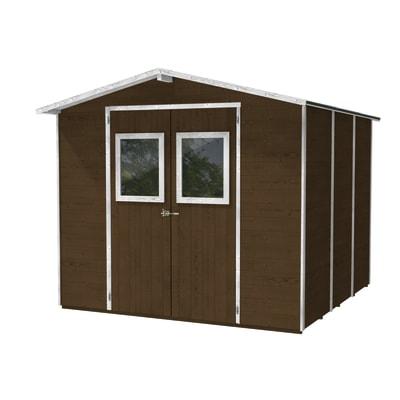 Casetta da giardino in legno Vaniglia 4.92 m² spessore 19 mm