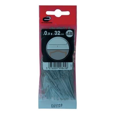 Spillo testa tonda STANDERS grigio / argento 32 x Ø 0.9 mm, 530 pezzi