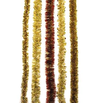Ghirlanda natalizia giallo / dorato L 200 cm , Ø 8 cm
