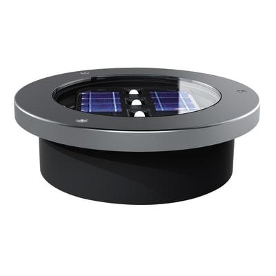 Faretto a incasso esterno solare SO538 alluminio luce bianco caldo diam.12cm 12x4cm 10W 3LM IP44 YANTEC