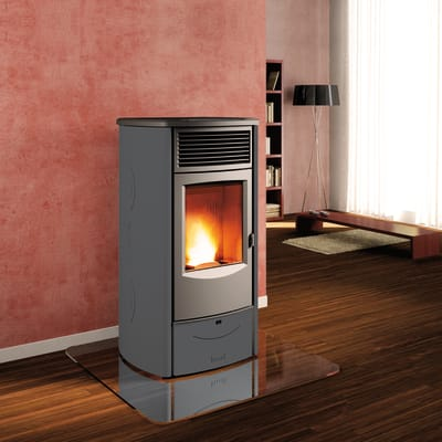 Stufa a pellet ventilata Sabrina 11 kW grigio