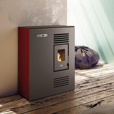 Stufa a pellet ventilata Tina 4 kW rosso