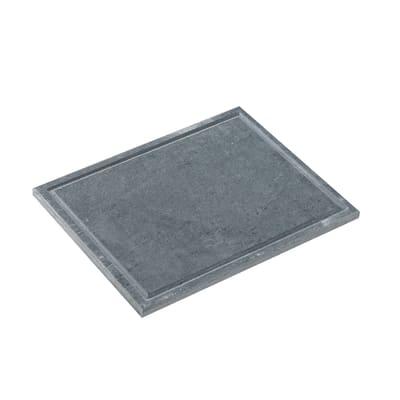 Piastra in pietra ollare L 25 x P 38 cm