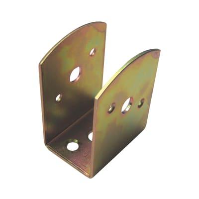 Supporto per palo Staffa in acciaio L 4x H 9