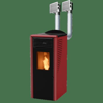 Stufa a pellet Fusion 12.2C 11.8 kW bordeaux