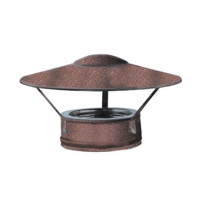 Para-pioggia semplice in inox 316l (elevata resistenza in condizioni climatiche estreme)