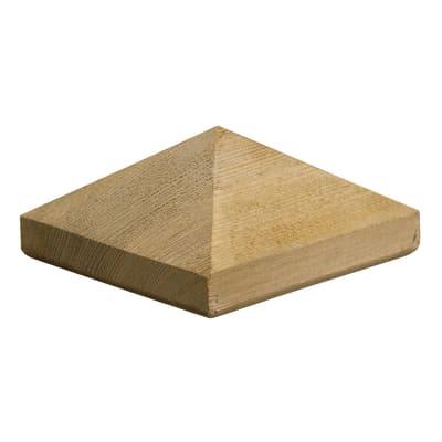 Terminale per colonna in legno naturale H 8.4 cm 25 pezzi
