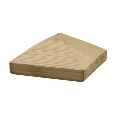 Terminale per colonna in legno naturale H 7.6 cm