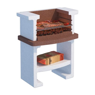 Barbecue in cemento refrattario LINEA VZ L 58 x P 58 x H 115 cm