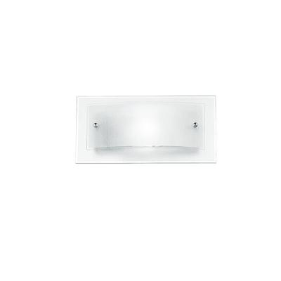 Applique classico I-061228-3 trasparente, in vetro, 15x30 cm,