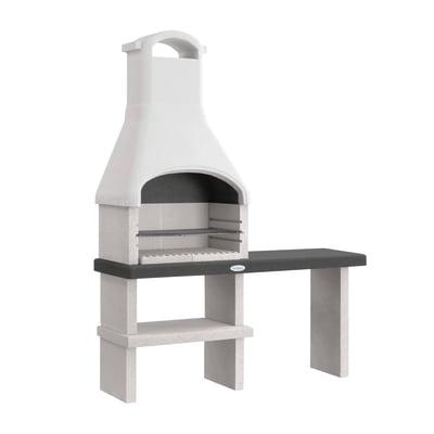 Barbecue in cemento refrattario PALAZZETTI L 160 x P 59 x H 216 cm