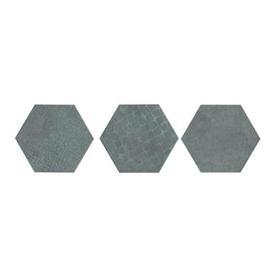 Piastrella Esagona Loft H 15 x L 17.3 cm PEI 4/5 argento