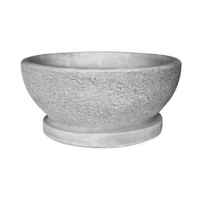 Ciotola in calcestruzzo colore grigio H 21 cm, Ø 43 cm