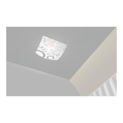 Plafoniera Oxy bianco, in vetro, 30x30 cm, E27 MAX60W IP20 LUMICOM