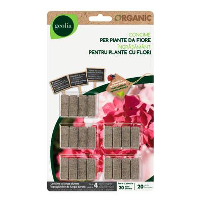 Concime piante fiorite bastoncini GEOLIA Organic 20 Pz