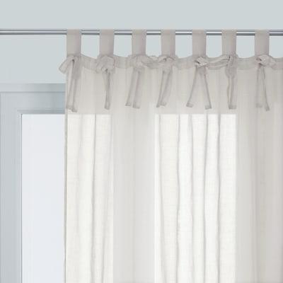 Tenda Cielo grigio chiaro lacci 140 x 280 cm