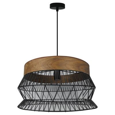Lampadario Manam marrone, nero, in metallo, diam. 46 cm, E27 MAX60W IP20 INSPIRE