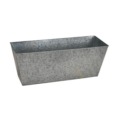 Portavaso in acciaio zincato colore grigio H 27 cm, L 70 x P 24 cm