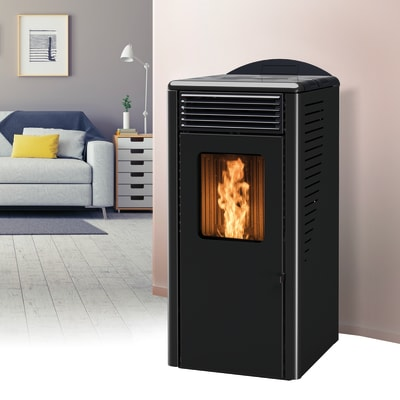 Stufa a pellet ventilata Fusion 10.2 10 kW nero