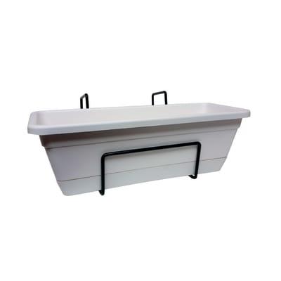 Fioriera ARTEVASI Venezia con riserva d'acqua e supporto in plastica bianco H 10 cm, L 12 x L 30 cm