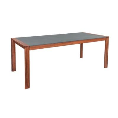 Tavolo da giardino rettangolare Washington con piano in fibrocemento L 90 x P 196.2 cm