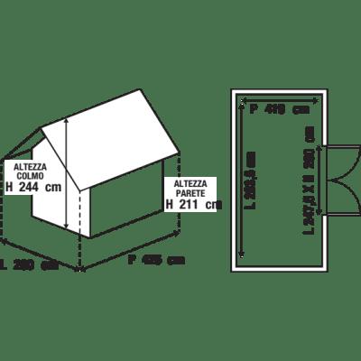 Garage in acciaio al carbonio Boston 10.62 m², Sp 0.4 mm