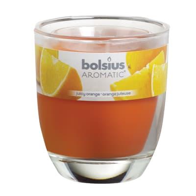 Candela profumata BOLSIUS essenza agrumi H 8 cm