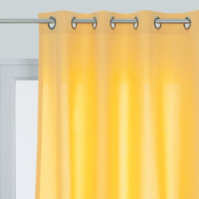 Tenda Pronta INSPIRE Sunny giallo occhielli 140 x 280 cm