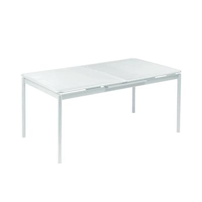 Tavolo da giardino allungabile Syd con piano in acciaio L 160 x P 90 cm